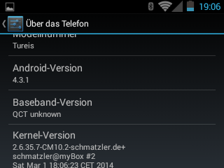 CyanogenMod 10.2 / Android 4.3.1 For The ZTE Tureis