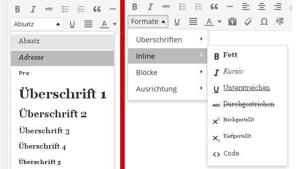 "WordPress 3.9: Das ""Absatz""-Menü Ersetzen"