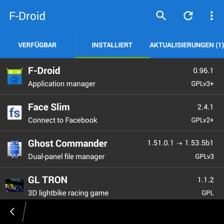 F-Droid And Facebook On BlackBerry 10